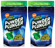 Green Gobbler POWDER PLUNGER Toilet Bowl Clog Remover - 2 Pack