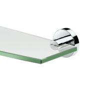 Gatco 4636 Glam Glass Shelf, Chrome
