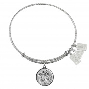 Wind and Fire Daughter with Strawberries Sterling Silver Charm Bangle
