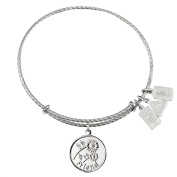 Wind and Fire Friend Sterling Silver Charm Bangle