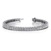 4.00 ct. Princess Cut Diamond Tennis Channel Set Bracelet