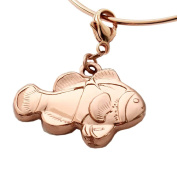 MB Michele Benjamin LLC Jewellery Design Women's 18K Rose Gold Plated Sterling Silver Clownfish Collectable Charm