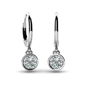 1.20 ct. Solitaire Round Diamond Bezel Set Drop Earrings