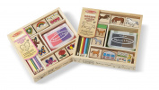 Melissa & Doug Wooden Stamp Sets (2)