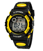 Boys Summer Multi Function Outdoor Waterproof Digital Sports Watche For Age 5-13 years old Yellow