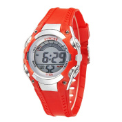 Boys Water-proof Summer Outdoor Digital Resin Sports Watches Kids Watches Red