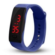 AMA(TM) Mens Womens Rubber LED Watch Date Sports Bracelet Pedometer Digital Wrist Watch