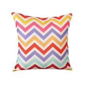 "Monkeysell THE NEW 2016 Multi-colour Geometric Pattern Cotton Linen Square Decorative Fashion Throw pillow cover -46cm X18 """
