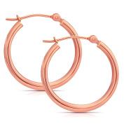 14k Gold Classic Hoop Earrings, 2cm Diameter