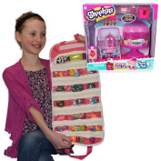 Shopkins Compatible Toy Organiser Bundle with Food Fair Cupcake Queen Cafe