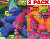 Dreamworks Trolls - Trolls Life - Jumbo Colouring and Activity Book + Trolls Sticker Book