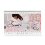 You & Me Baby So Sweet Wooden Bassinet Furniture for 46cm Doll - White and Pink