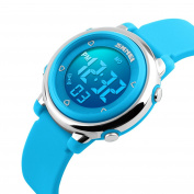 BesWLZ Digital Watch Outdoor Sports Kids LED Alarm Stopwatch Children's Dress Wristwatches Blue