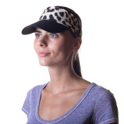 Women's Sun Visor Hat with Ponytail Hole UV protection Shade Cap with Wide Brim Multi-Colour Head-wrap for Active Lifestyle