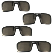 UltraByEasyPeasyStore 4 Pairs of Passive Universal 3D Standard Clip on Glasses for Prescription Eyewear for use W/ all Passive 3d Tvs Cinema & Projectors