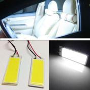 Car Light,LandFox 2pcs Xenon HID White 36 COB LED Dome Map Light Bulb Car Interior Panel Lamp 12V