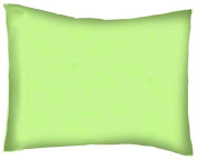 SheetWorld Crib / Toddler Percale Baby Pillow Case - Mint Woven - Made In USA