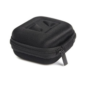 Funnytoday365 Black Mini Carrying Hard Headphone Case Storage Bag Box Carrying Earbud Pouch Hard Case For Earphones Accessories