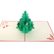 Remeehi Anniversary Greeting Cards 3D Pop Out Christmas Greeting Cards