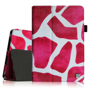 Fintie Premium PU Leather Case Cover for 18cm Tablet inclu. Dragon Touch Y88X Plus 7, Alldaymall A88X 7, NeuTab N7S Pro 7 / N7 Pro 7, NPOLE Tablet 7 (Compatible List in Description), Giraffe Magenta