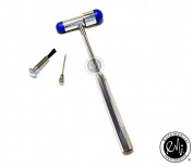 EMI ROYAL BLUE Buck Neurogical Reflexes Testing Hammer - Includes Brush and Needle