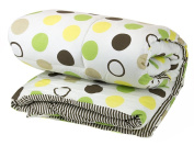 BABY QUILT PRINTED colourful CIRCLES AND ANIMALS