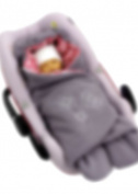 ByBoom® - Swaddling Wrap, Car Seat and Pram Blanket for Spring, Summer and Autumn/Fall, Universal for infant and child car seats eg; Maxi-Cosi, Britax, for a pushchair/stroller, buggy or baby bed, Colour:Dark Grey/Fuchsia