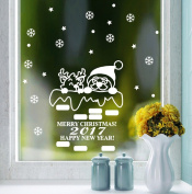❉❉❉ Vovotrade 2017 Happy New Year Christmas Snowman Ball Removable Home Vinyl Window Wall Stickers Decal Decor 75*80cm