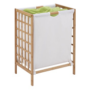 Honey-Can-Do HMP-03770 Bamboo Laundry Hamper with Natural Liner, 16 by 33cm by 60cm