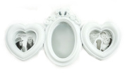 White Shabby Chic Wall Mounted Heart Mirror Oval Kids Baby Nursery Photo Frame Birthday