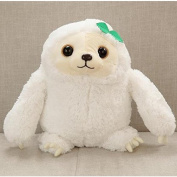 YunNasi 40cm Super Cuddly Plush Sloth Stuffed Animal Doll Toy Perfect Gift for Child and Girl White