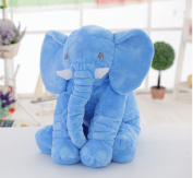 Unimall 100% Cotton Baby Elephant Pillow Soft Animals Plush Pillows for Children Baby Sleeping Blue