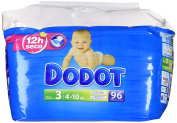 Dodot - Pack Nappy Babies - Size 3, 4 - 10 kg - Pack of 96