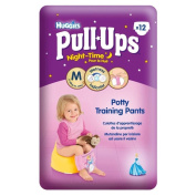 Huggies Pull-Ups Night Time Potty Training Pants for Girls Size 5 Medium 12-18kg (12) - Pack of 6