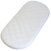 Moses Basket Mattress pure white quilted mattress, British made. Excellent Quality