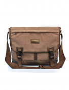 Douguyan Shoulder Bag Mens Business Briefcase Office Tote Handbag Casual Crossbody Shoulder Messenger Bag 36cm Laptop Bag E00260 Brown