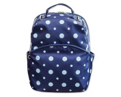 DSstyles Dot Print Teen Girls Casual Style Backpack Cute Travel School Shoulder Bag - Blue