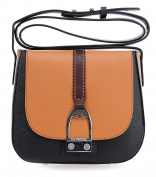 BLACK/BROWN CROSS-BODY BAG LA MARTINA CABALLITO - 358.003 BL.BW