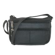 CTM Women's Multi Pocket Adjustable Shoulder Bag Cross body