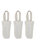 CTM Canvas Single Bottle Wine Tote