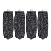 4 pcs Generic Replacement Roller Heads Hard Coarse EXTRA Coarse Compatible with Scholl Velvet Smooth diamond Foot care tool for pedi callurs remover, Callous Pedicure, Grinding Peeling Pedicure Device, the colour of black.0612046640746