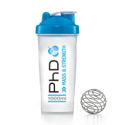 PhD Mixball Shaker 1000ml With Wire Ball - Protein Shaker Bottle