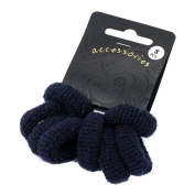 Bling Online 8pc Ponio Hair Bands. Approx 3cm, Centre 1cm. Navy Blue by Bling Online