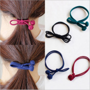 20Pcs Mix Colours Women Girls Elastic Knotted Hair Tie Band Rope Ring Ponytail Holder Hair Accessories