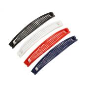 Mytoptrendz® Slim Long Ponytail Banana Hair Clip Pack of 4 Assorted Colour