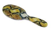 Rock & Ruddle Snakeskin Natural Bristle Hairbrush Large