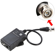 UHPPOTE DC12V HD UTP Active Video Receiver BNC Male Balun For CCTV Camera DVR System