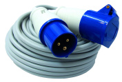 Electraline - 461470 IP44 Industrial Extension, Cable Fror 3 G1.5 10 m, Male and Female IEC 220 V T 2P