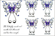 GGSELL 2012 latest new design hot selling Men and women tattoo stickers waterproof butterfly English fake Tattoos