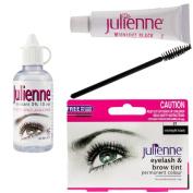 Julienne Eyelash Eyebrow Tint Dye Midnight Black + Oxidant Developer 50ml